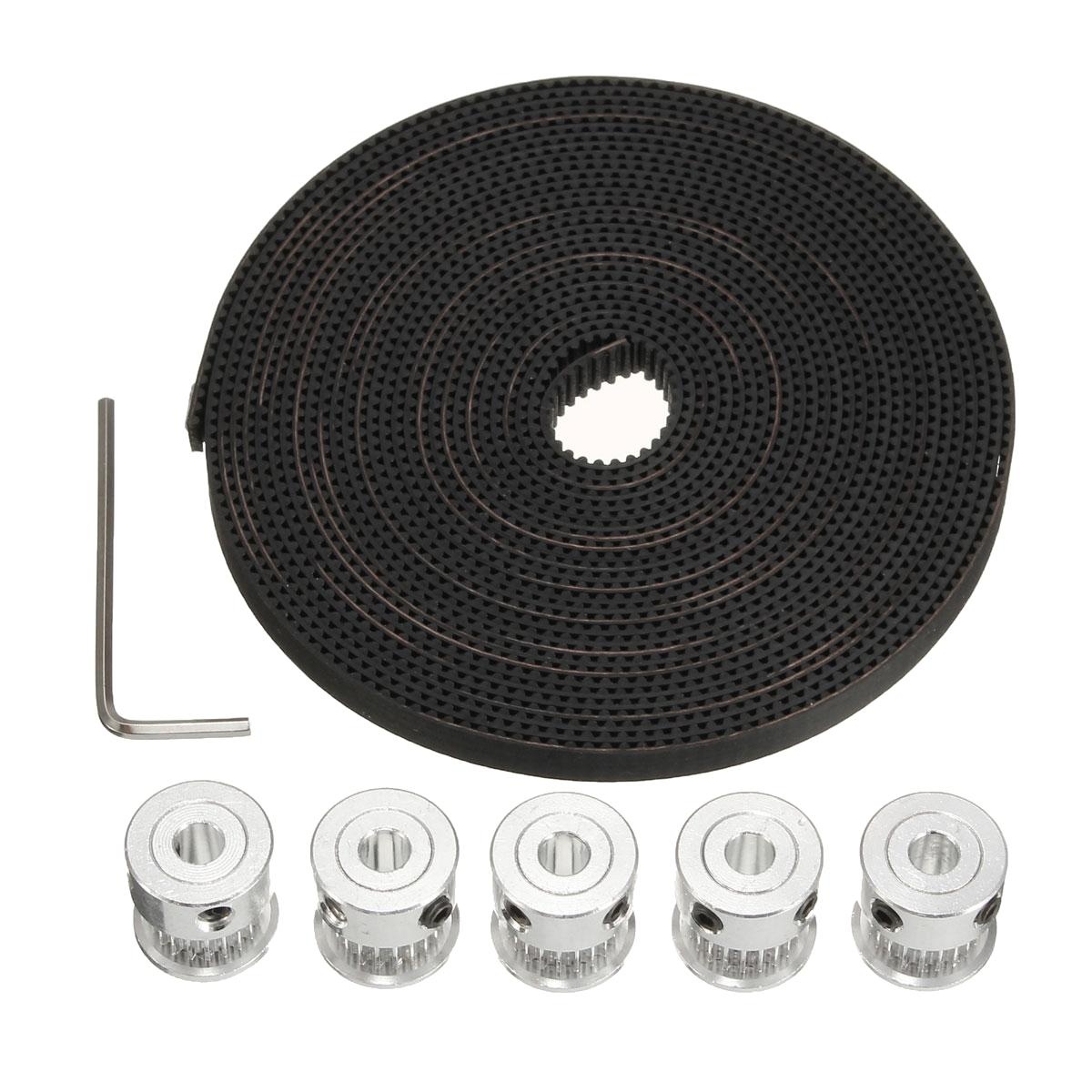 GT2 20 Tooth Timing Pulleys And 5 Meters Of GT2 Belt 3D Printing Reprap S7