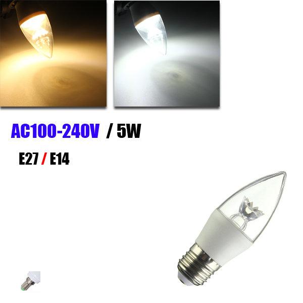 E27 e14 5w C37 LED mazorca
