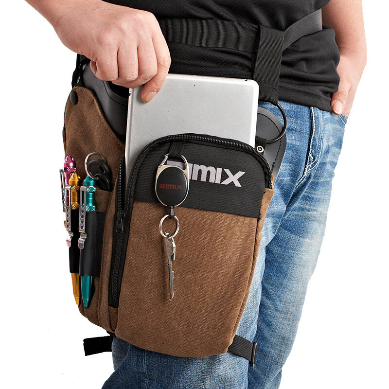 b9a1615d795 RIMIX Multi Functional Tactical Waist Pack Waterproof Canvas Tool Bag  Outdoor Cycling Fishing Bag
