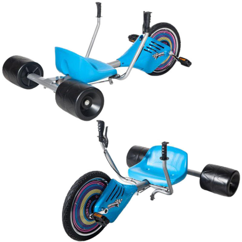 Children's Drift Trike Big Wheel Machine Bike with Sturdy Steel Frame - 2