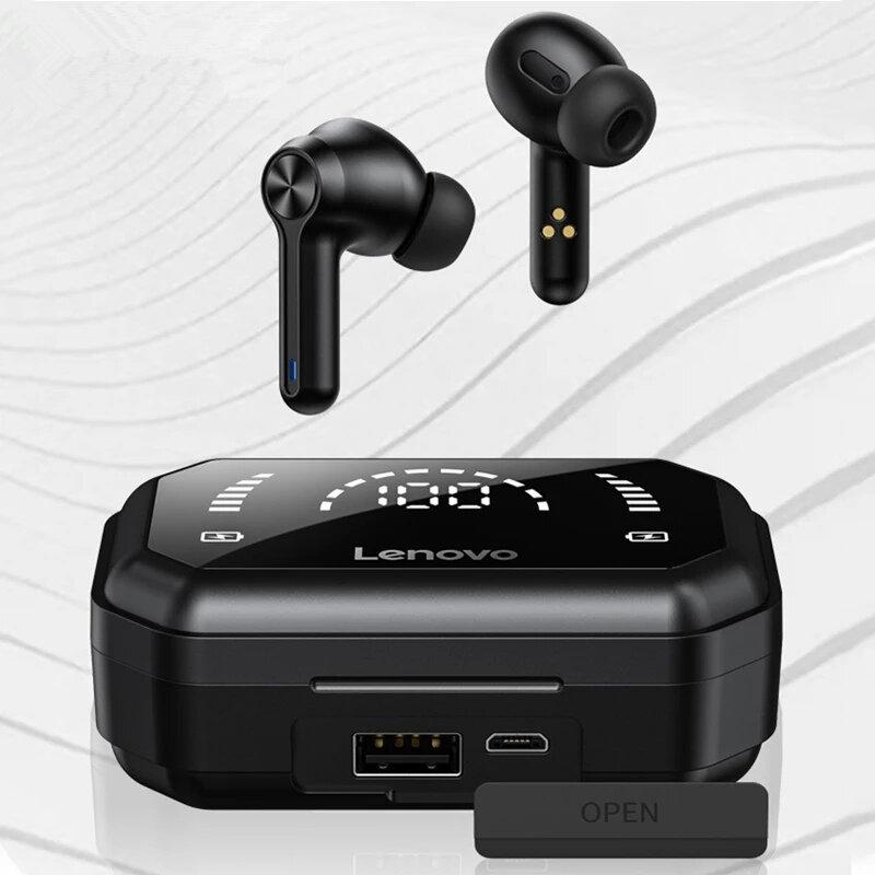 Lenovo LP3 Pro TWS bluetooth 5.0 Earbuds Dual Drivers HiFi Stereo 1200mAh LED Power Display Noise Canceling Mic Sports E