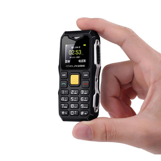 MELROSE S10 1.0 Inch 450mAh bluetooth Smallest MP3 Music Phone Shockproof Feature Phone