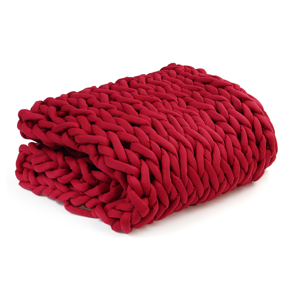 100x120cm Handmade Knitted Blankets Soft Warm Thick Line Cotton Throw Blankets - 6