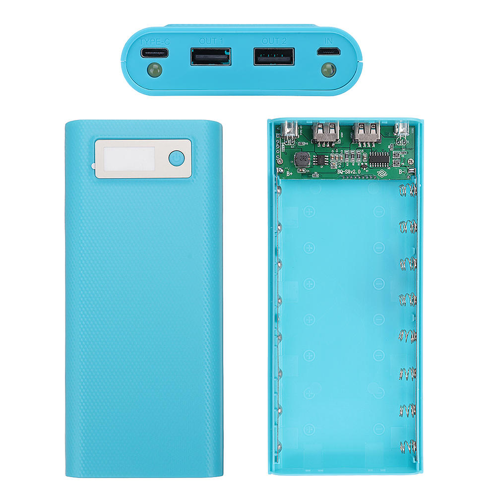 Bakeey 8x18650 2A 2 USB Ports LCD Display 20000mAh Battery Case Power Bank Box for Mi Max 3