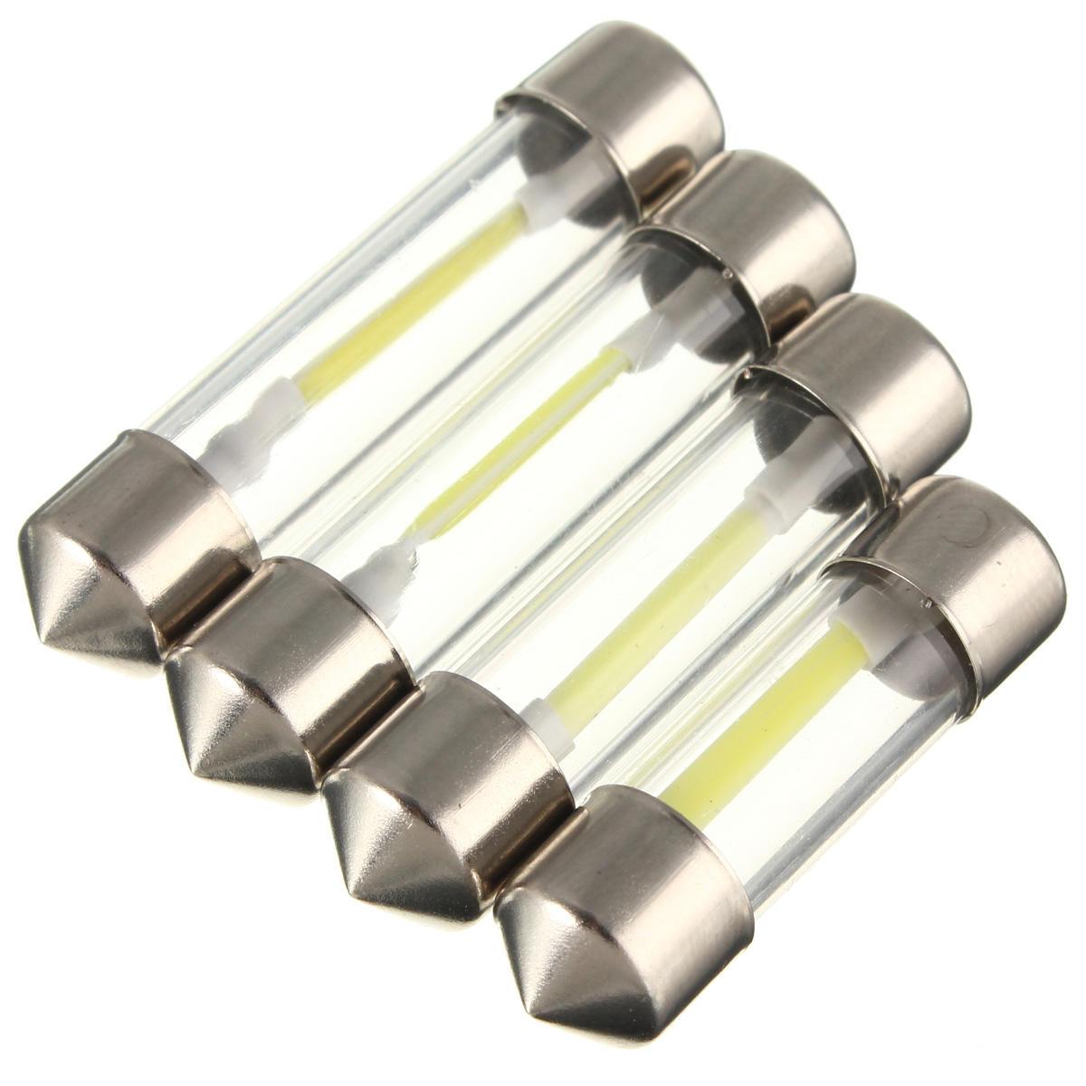 31/36/39/41mm COB LED Festoon Dome Lights License Plate Reading Map Lamp 12V White