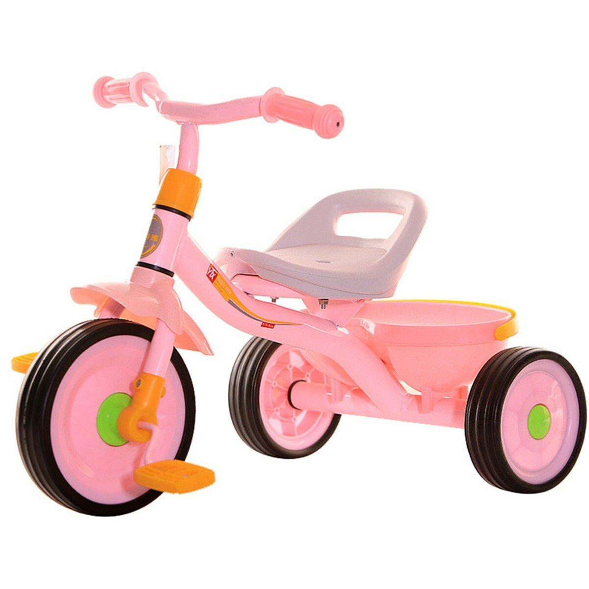 عربة أطفال ثلاثية العجلات قابلة للتعديل ، مشاية آمنة للأطفال لعمر 2-4 سنوات
