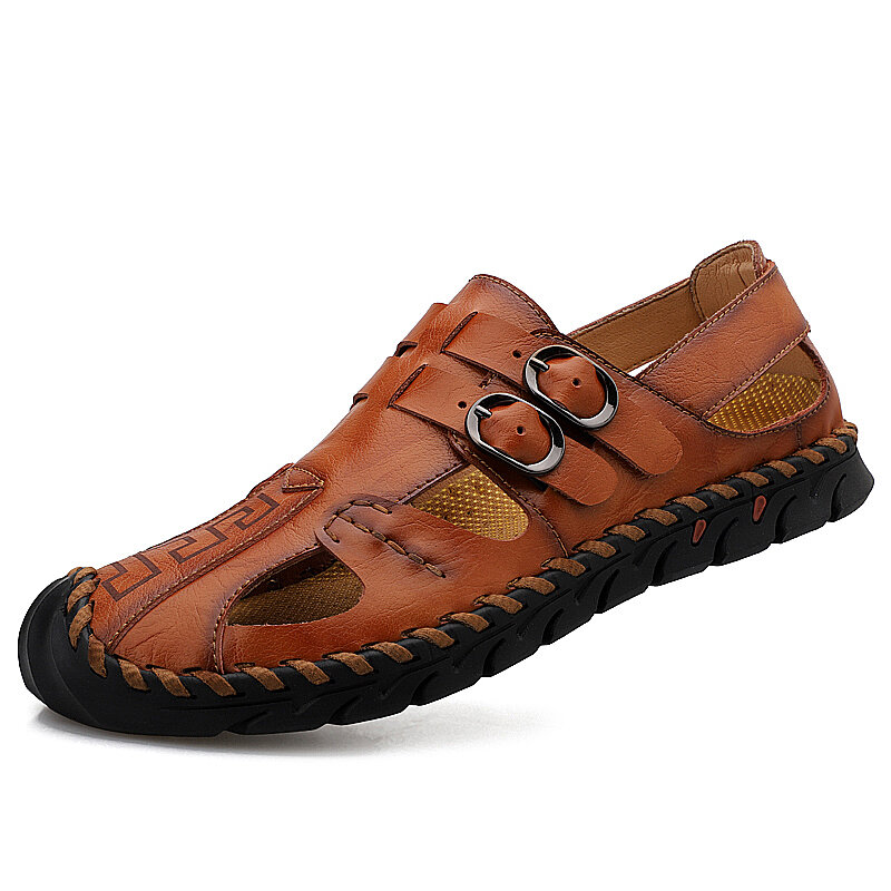 Men Knitted Woven Casual Soft Daily Sandals - 2