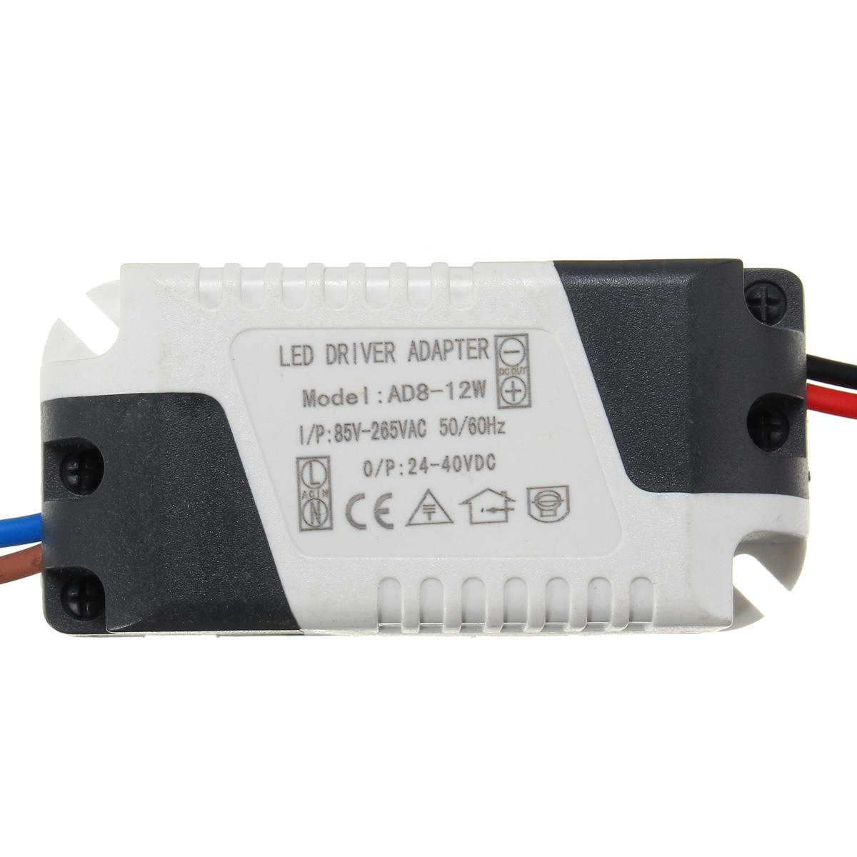 AC85-265V To DC24-40V 8-12W 300mA LED Light Lamp Driver Adapter Transformer  Power Supply