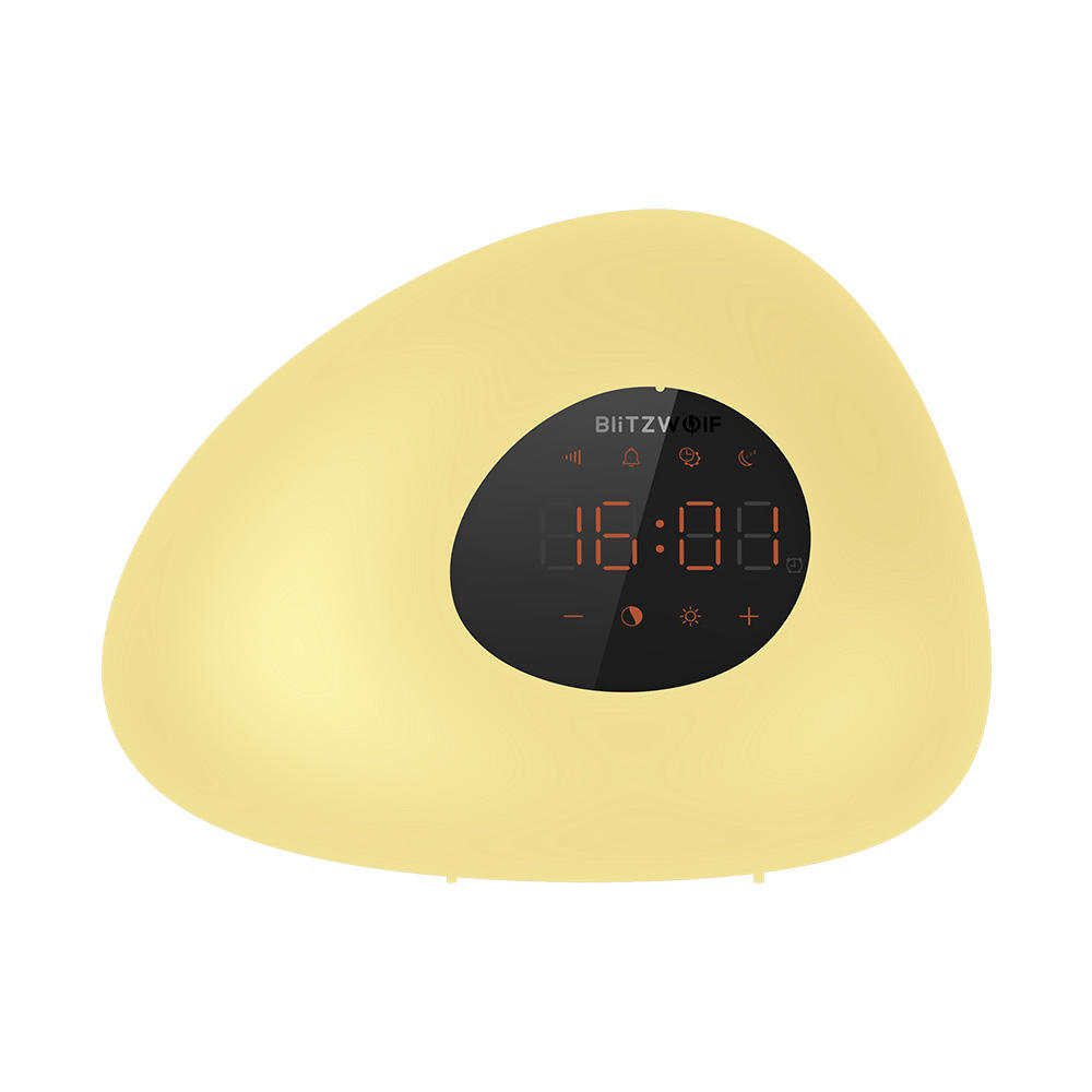 BlitzWolf® BW-LT23 Wake-up Light Alarm Clock with Sunrise & Sunset Mode Touch Control RGB Dimmable Night Lamp
