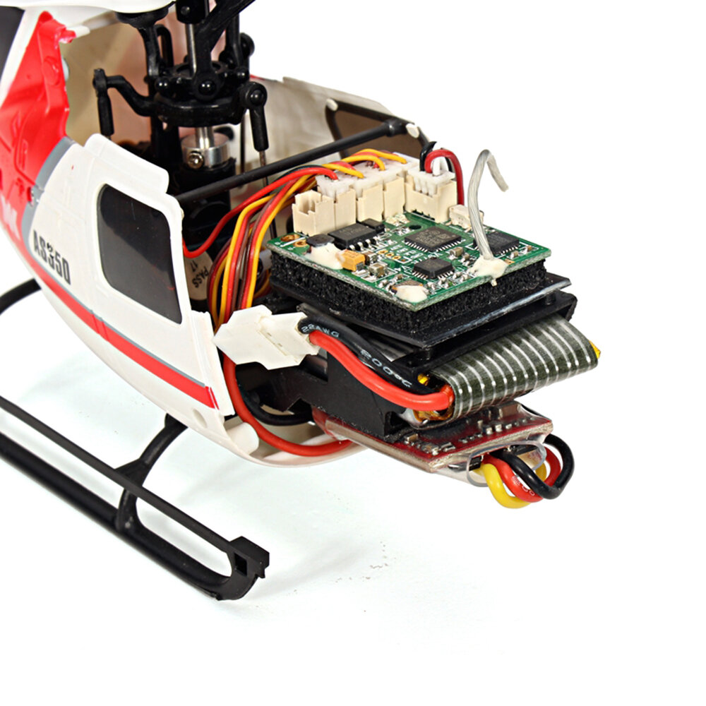 OMPHOBBY M2 V2 6CH 3D Flybarless Dual Brushless Motor Direct-Drive RC Helicopter BNF with Open Flight Controller - 7