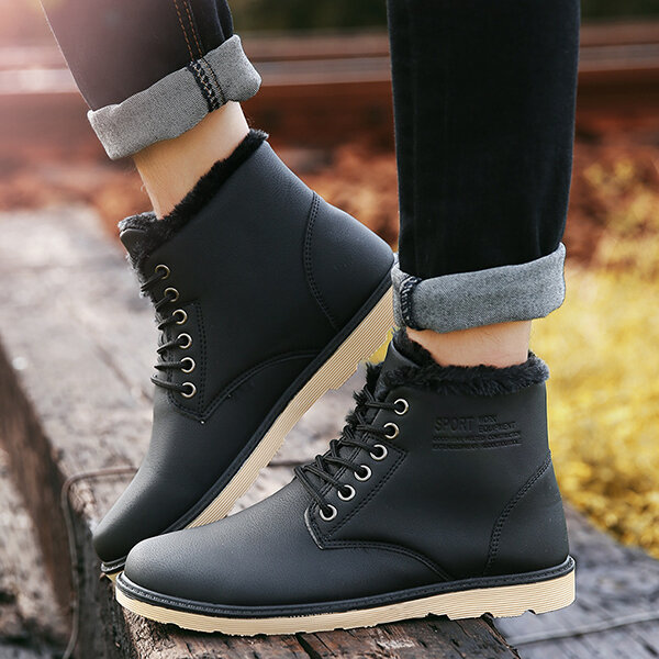 Cow Leather Camouflage Weave Sock Mouth Casual Boots - 9
