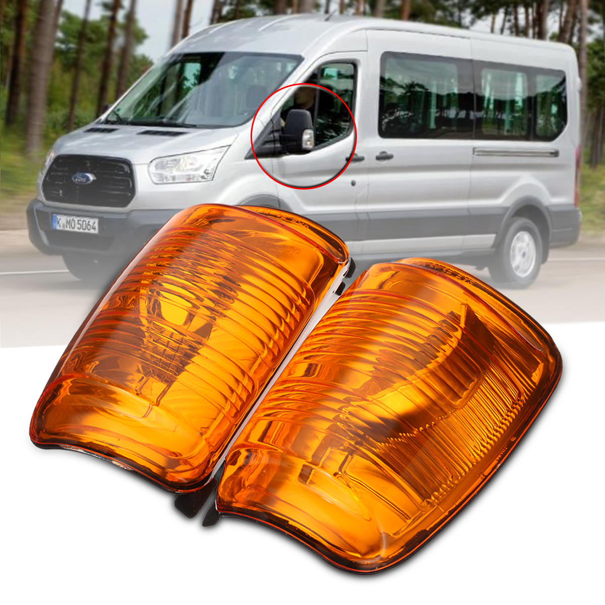 FORD TRANSIT MK8 2014 ON RIGHT WING MIRROR ORANGE INDICATOR LENS LAMP RIGHT