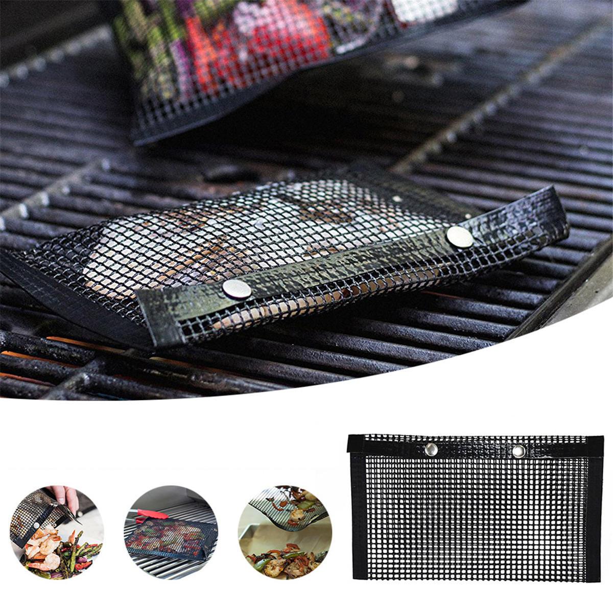 5Pcs Grill Mats BBQ Bake Chef Non Stick Pad Mat Camping Hiking Home Outdoor Tool