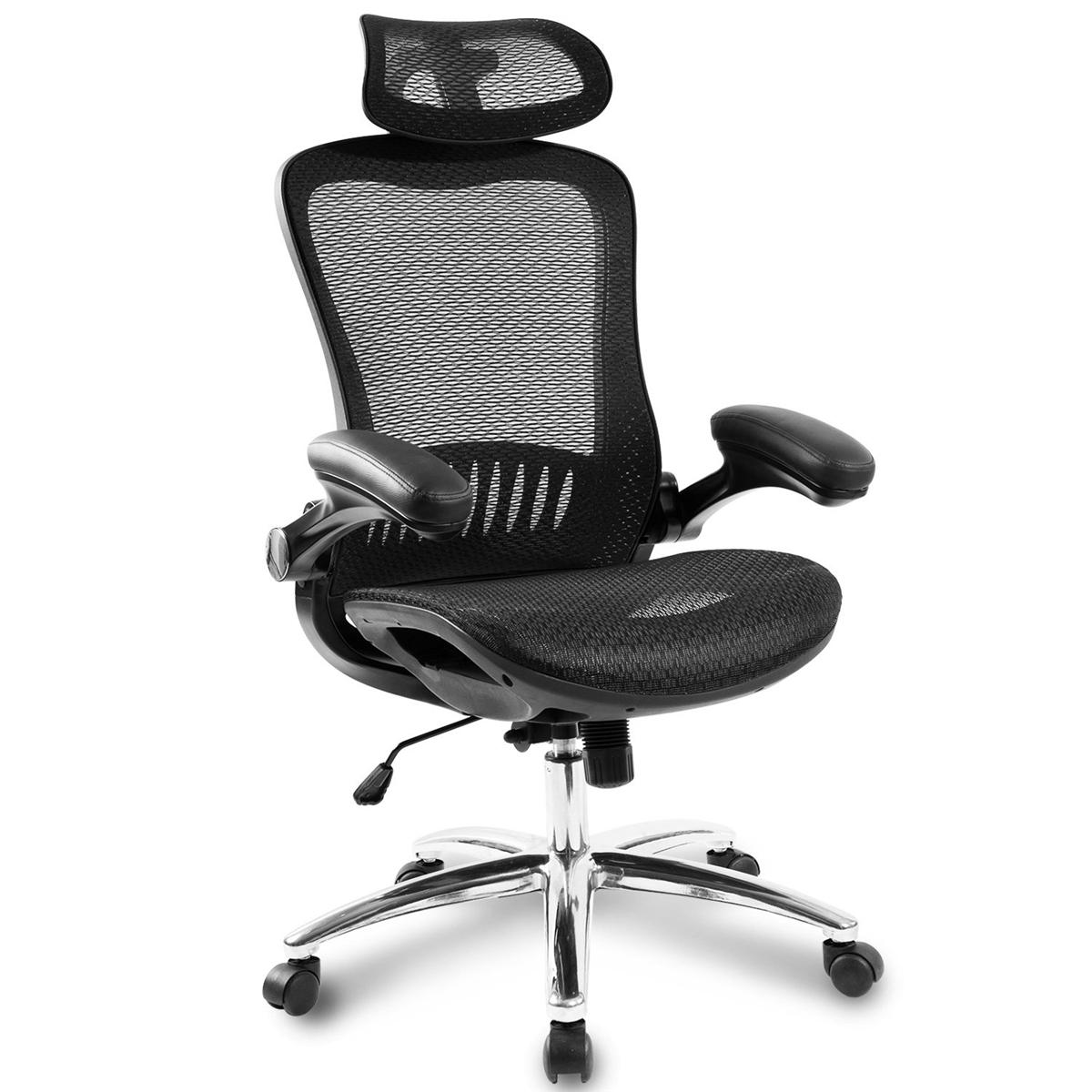 Merax Modern Office Chair Ergonomic Mesh Adjustable Height Rotating Lift Chair Chair Reclining Chair Folding Chair