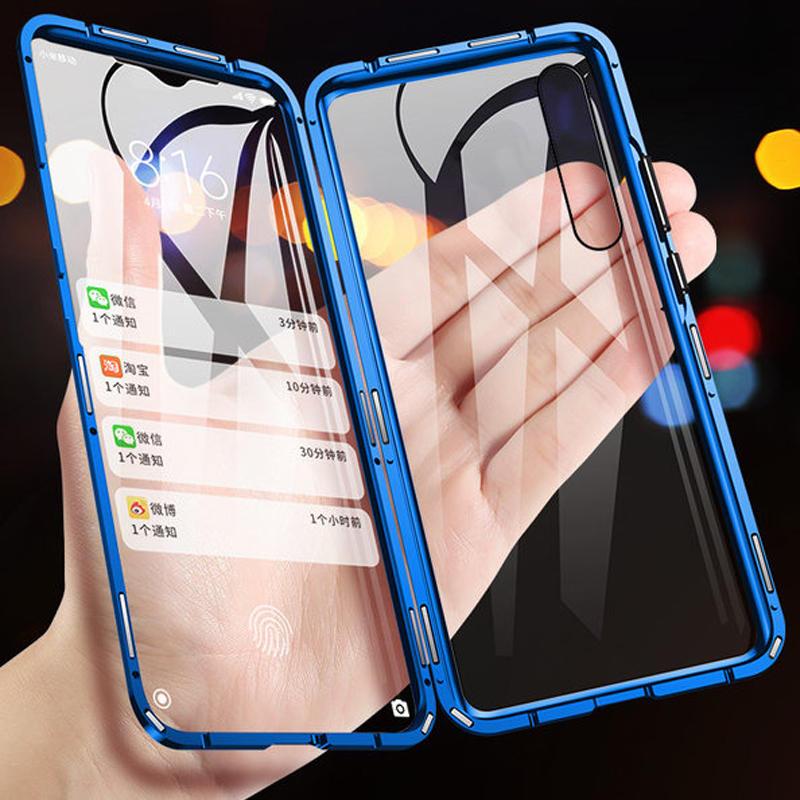 Bakeey Xiaomi Redmi Nota 7/Redmi Nota 7 Pro 360º Anteriore + Posteriore Doppio lato Corpo pieno 9H Vetro temperato Metallo Magnetico Adsorbimento Flip Pro Custodia protettiva