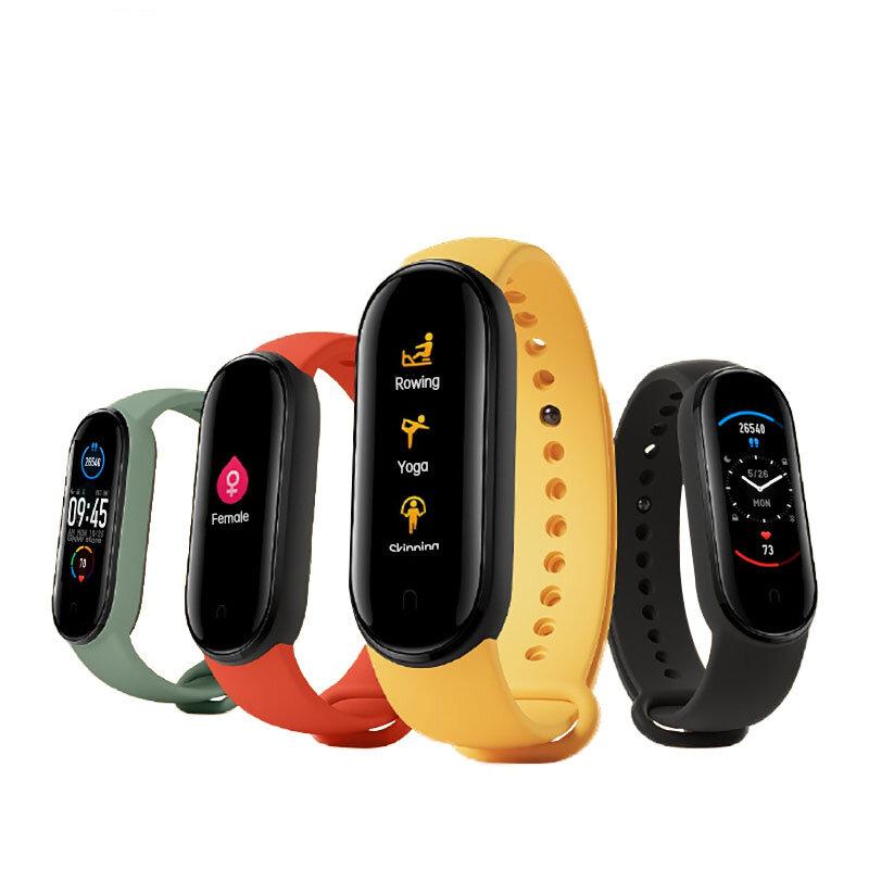 BT 5.0Original Xiaomi Mi band 5 1.1 Inch AMOLED Wristband Customized Watch Face 11 Sport Modes Tracker Smart Watch Global Version