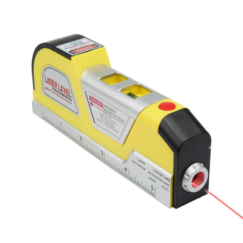 Loskii Laser Level Horizontal Vertical Line Tape Accurate MeasureTape Aligner Multipurpose Ruler