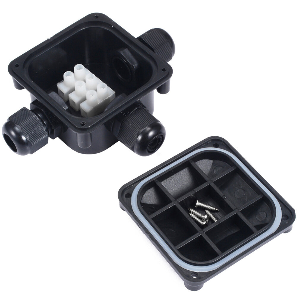 Waterproof Junction Terminal Box 3 Cable Wire Protection Building Connector IP68
