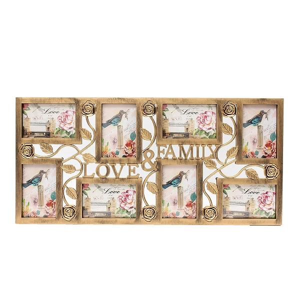 8 in 1 Family Love Rose Leaf Decor Wall Hanging Photo Frame