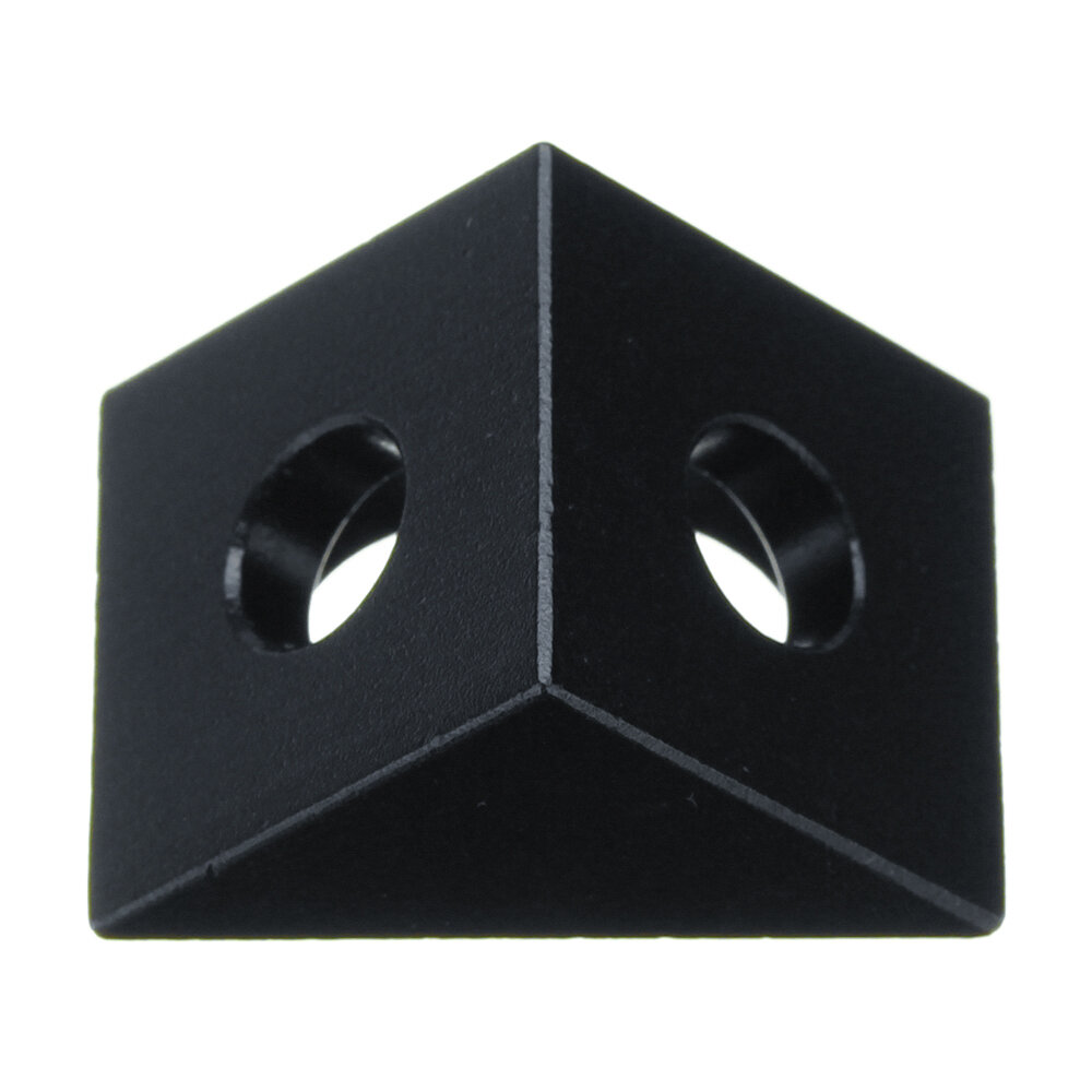 Aluminum Black Angle Corner Connector For 20mm Profile Extruder 3D Printer Part, Banggood  - buy with discount