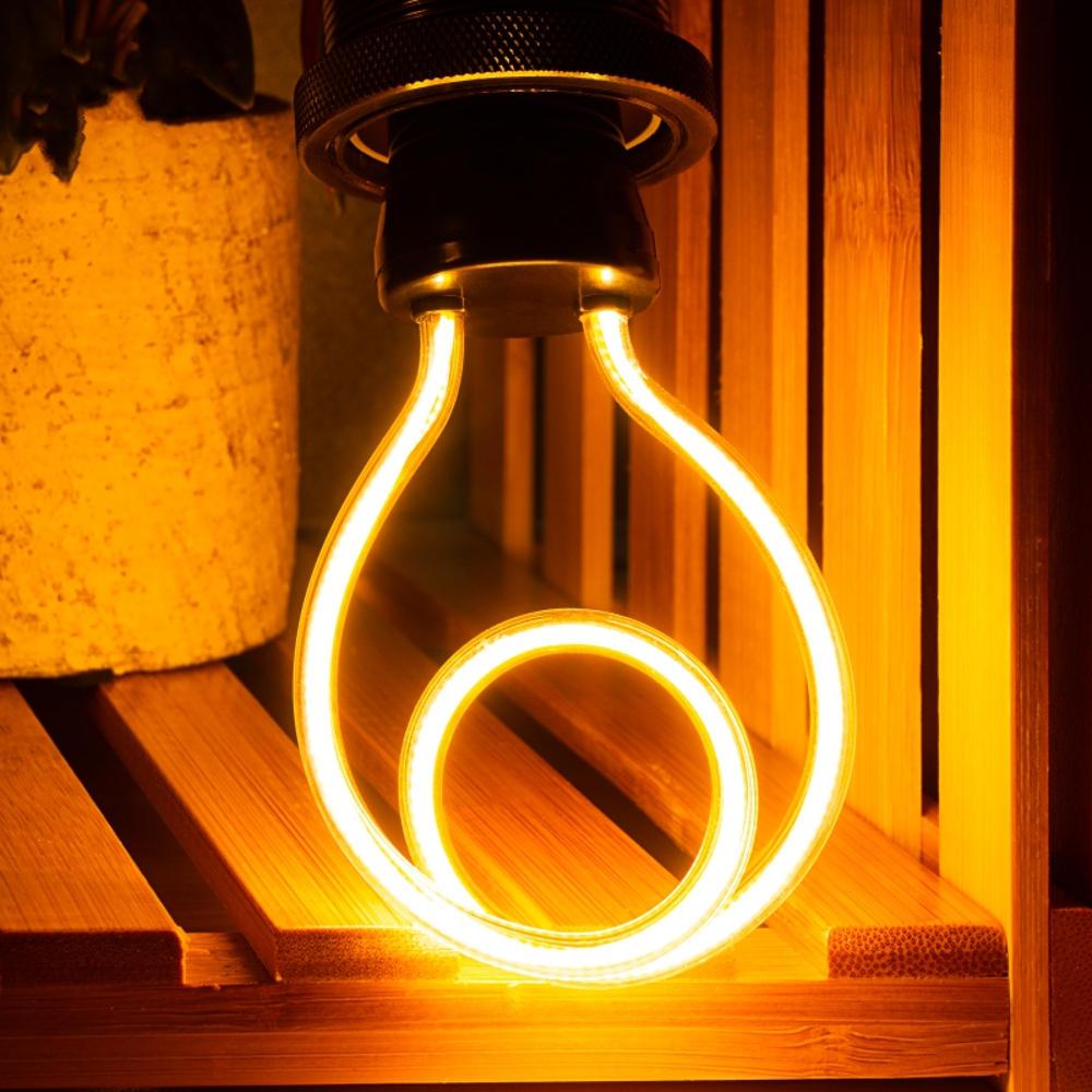 4W JH-DO Retro Edison Unique Design LED Soft Filament Light Bulb for Indoor Home AC220-240V