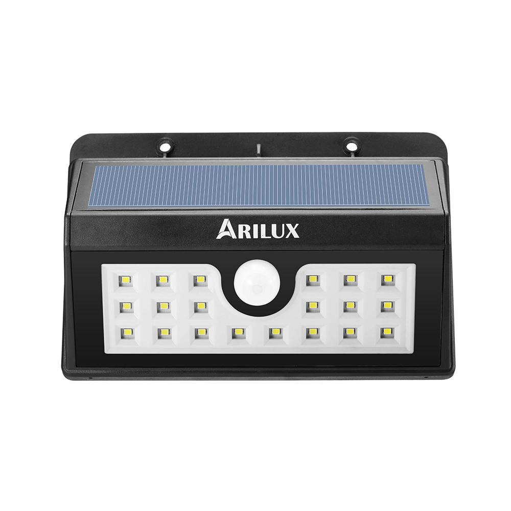 ARILUX® PL-SL 02 Wireless Solar Powered 20 LED Waterproof PIR Motion Sensor Outdoor Wall Light