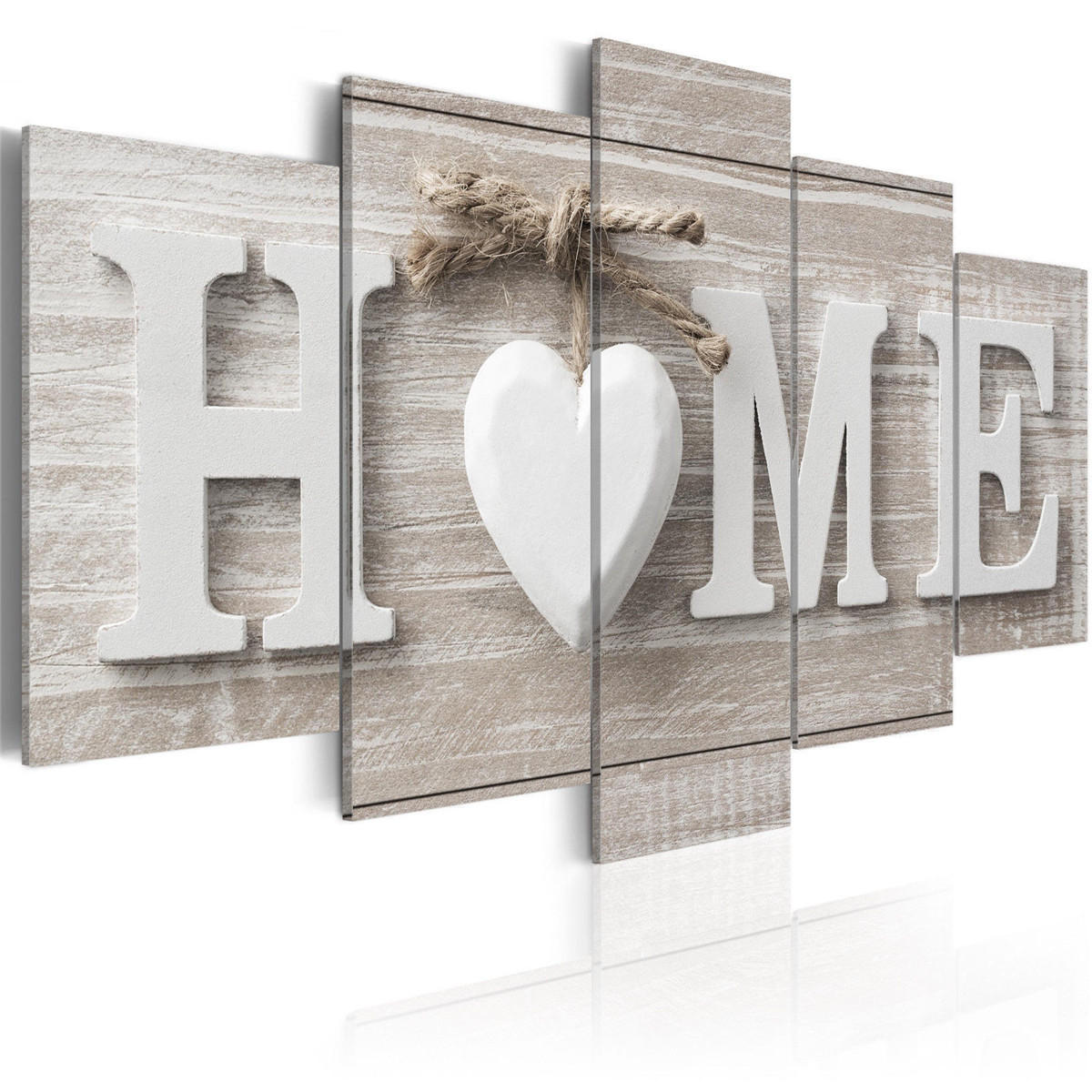 5 Panels Love HOME Wall Art Print Pictures Canvas Wall Prints Unframed Paper