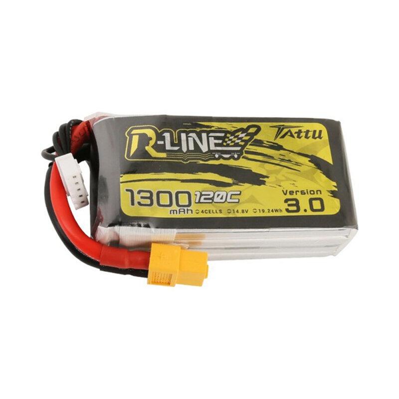 TATTU R-LINE رواية 3.0 14.8V 1300mAh 120C 4S Lipo البطارية XT60 Plug for FPV RC Drone
