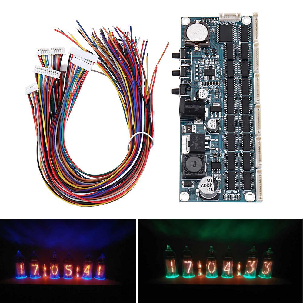 DIY IN14 QS30 IN12 Nixie Tube PCBA Module Motherboard For Glow Tube Digital  Clock No Tubes