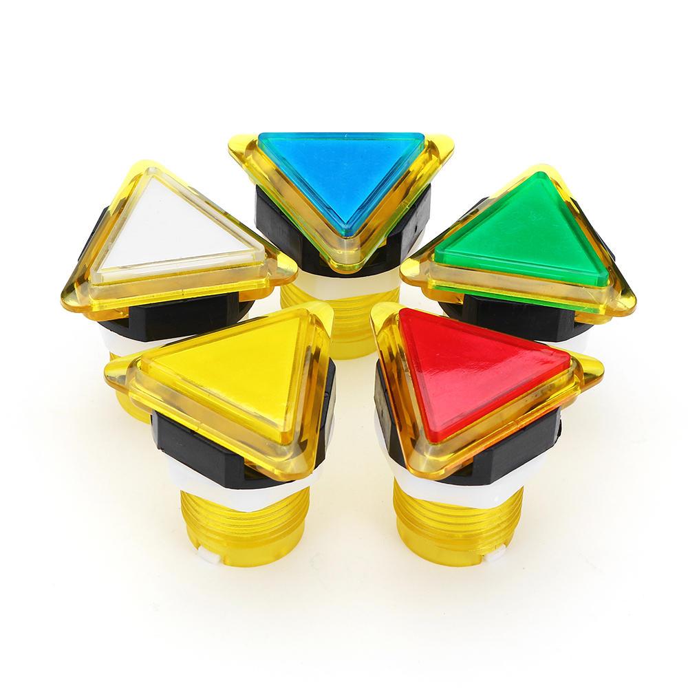 39x39x39 Triangle Direction LED Bouton-poussoir de lumière pour Arcade Game Console Controller DIY