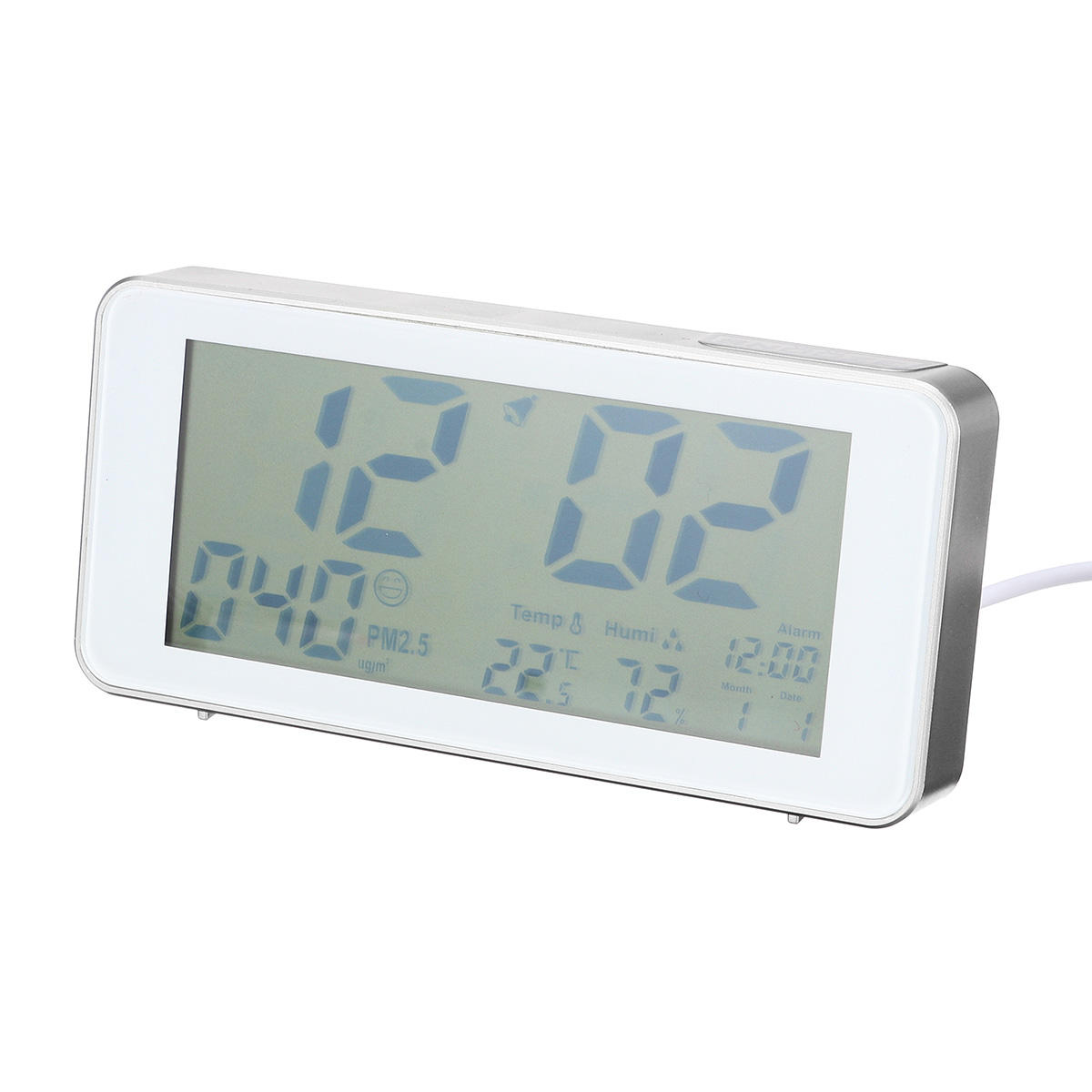 Air Quality Monitor for PM2.5 Professional AQI Sensor Air Humidity Detector Real Time Display with clock