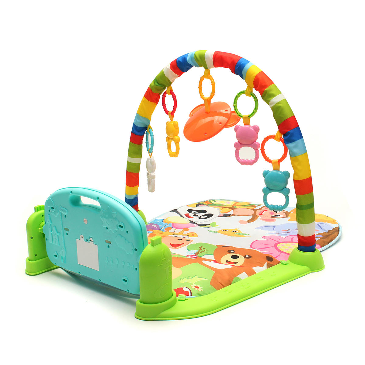 Foot Play Piano Musical Lullaby Baby Activity Playmat Gym Toy Soft Baby Play Mat - 2