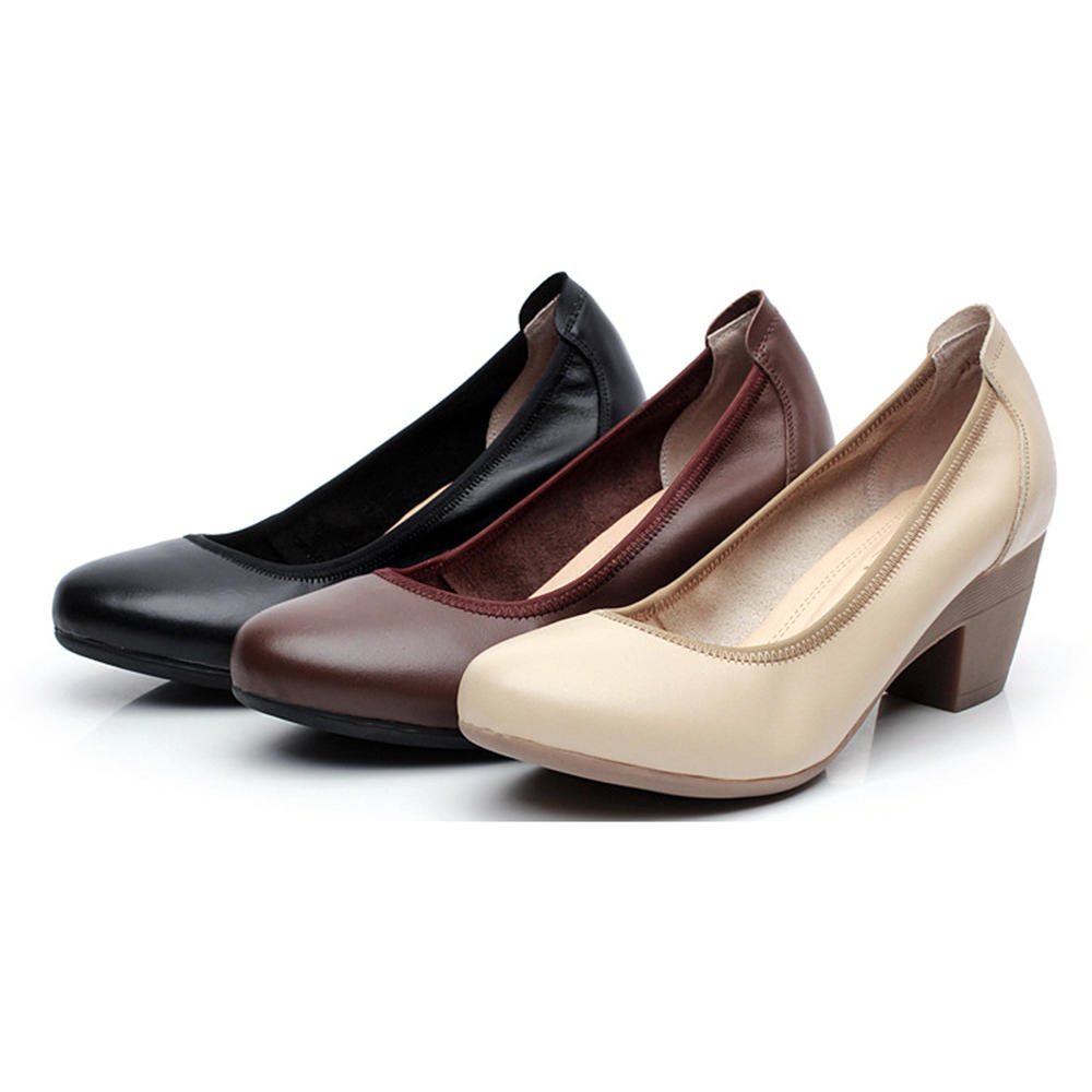 SOCOFY Soft Comode pumps in pelle casual