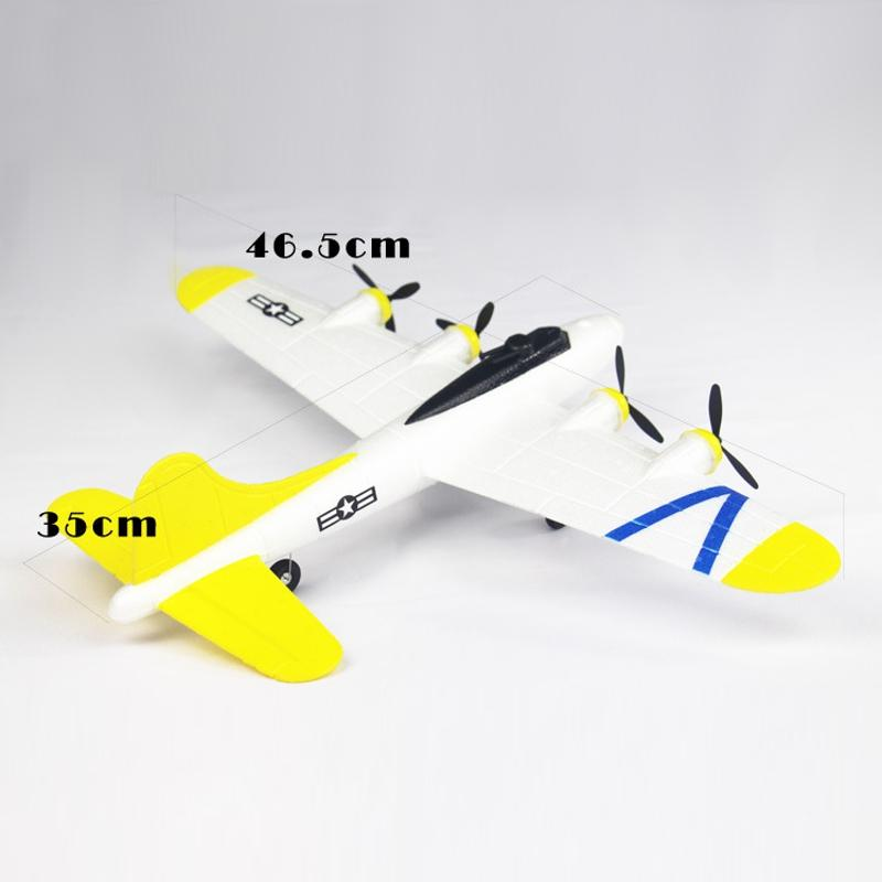 FX B17 465mm Wingspan 2.4Ghz 2CH Radio Control Airplane RTF with Mode 2 Transmitter Battery RC Plane Aircraft Drone G.lider Trainer Outdoor Toy - 4