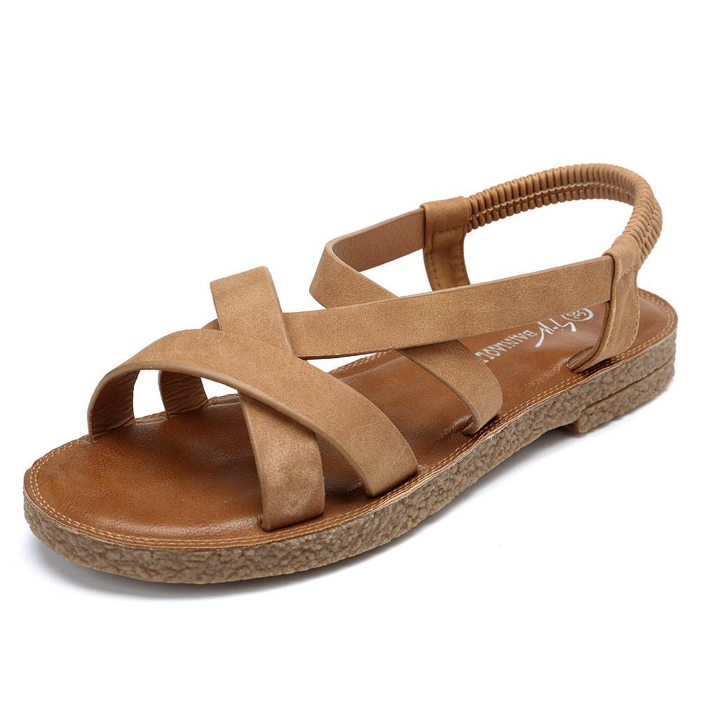 85593cf85 women shoes roman cross elastic band sandals at Banggood