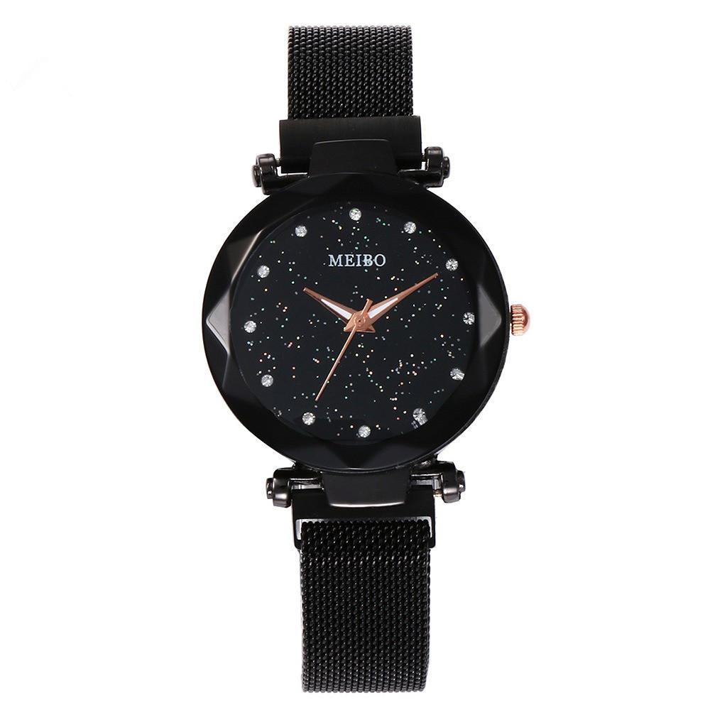 Ladies Dress Star Magnetic Band Fashion Luxury Crystal Dial Women Quartz Watch