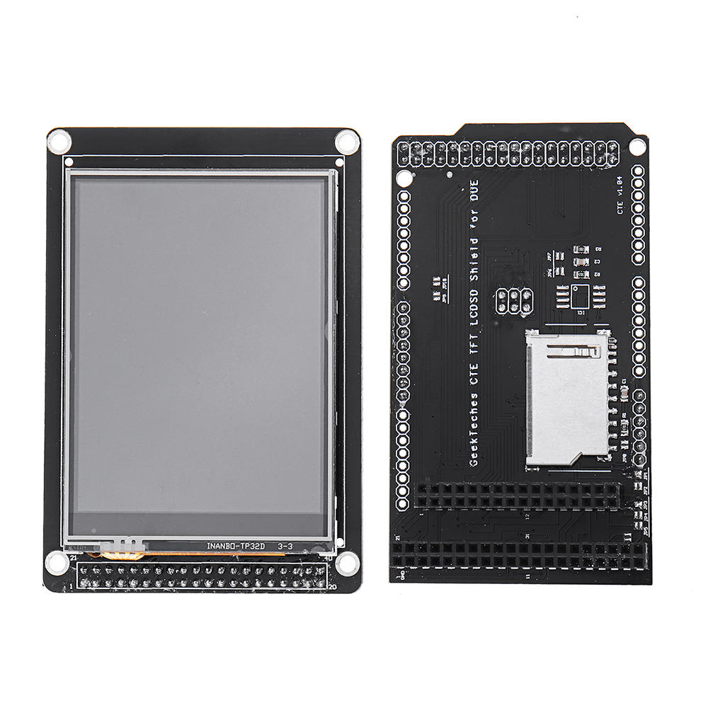 GeekTeches® 3.2 Inch TFT LCD Display + TFT/SD Shield For Arduino MEGA 2560 LCD Module SD level Translation 2.8 3.2 DUE
