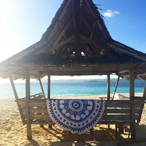 Honana WX-91 Bohemian Tapestry Totem Lotus Beach Towels Yoga Mat Camping Mattress Bikini Cover - 9