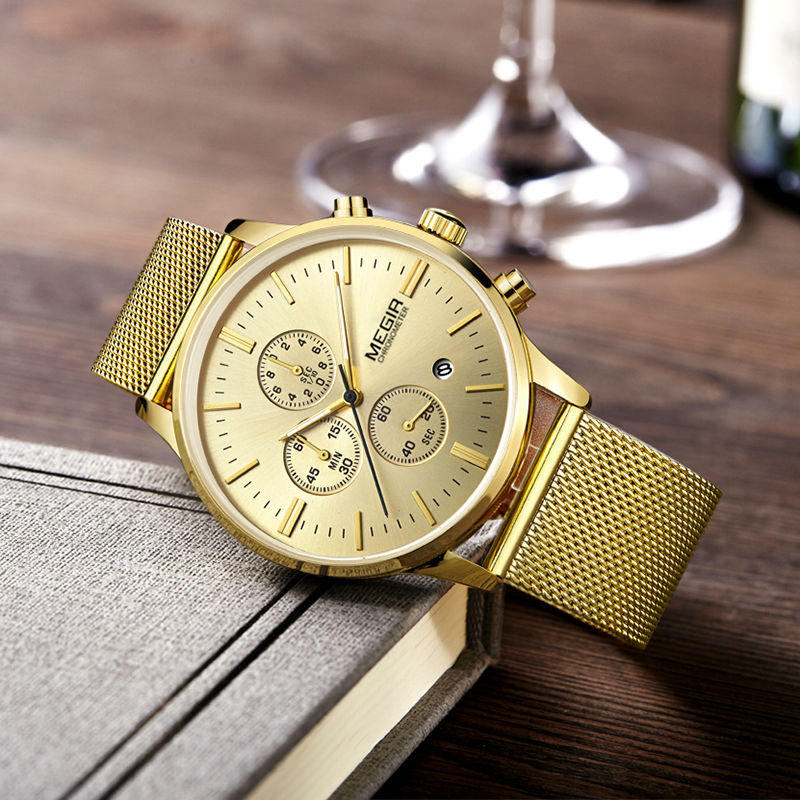 MINI FOCUS MF0278G Royal Golden Stainless Steel Men Watch - 2