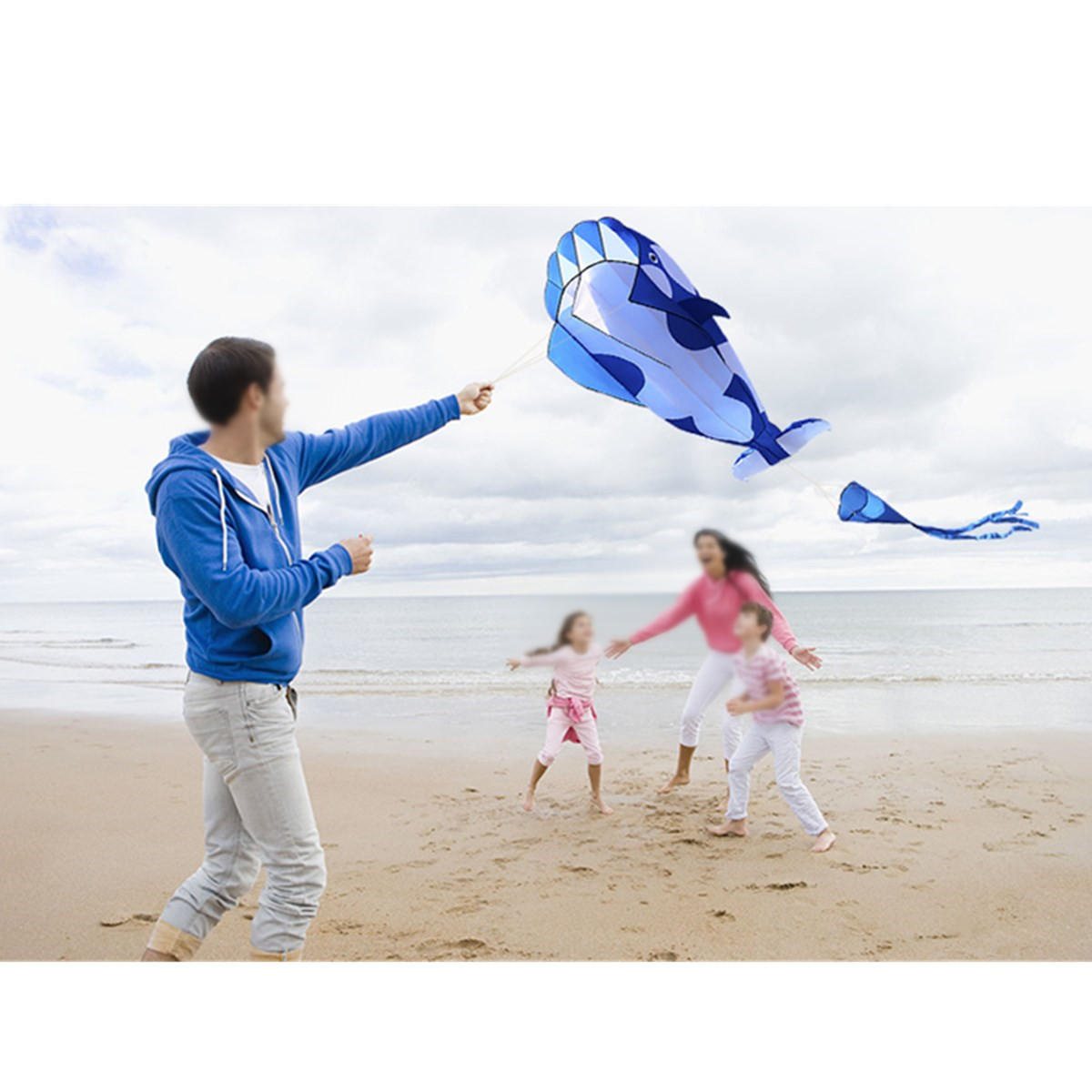 3D Colorful Flower Kite Single Line Outdoor sports Toy Light Wind Flying Kids - 5