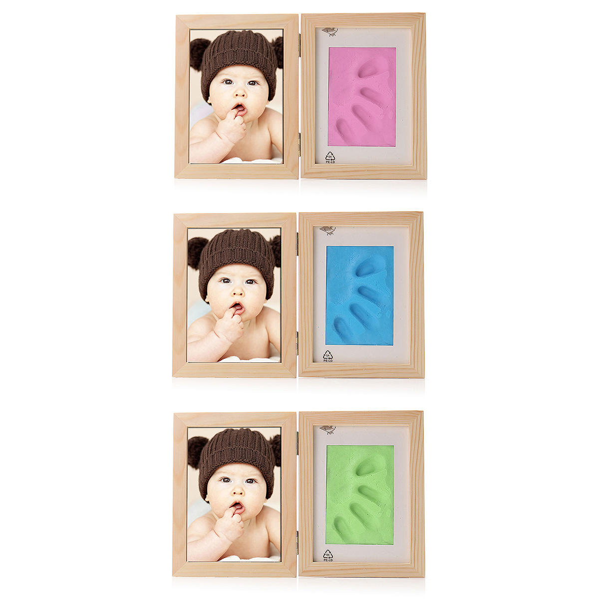 Born Baby Hand Foot Print Soft Clay Photo Frame, Banggood  - buy with discount