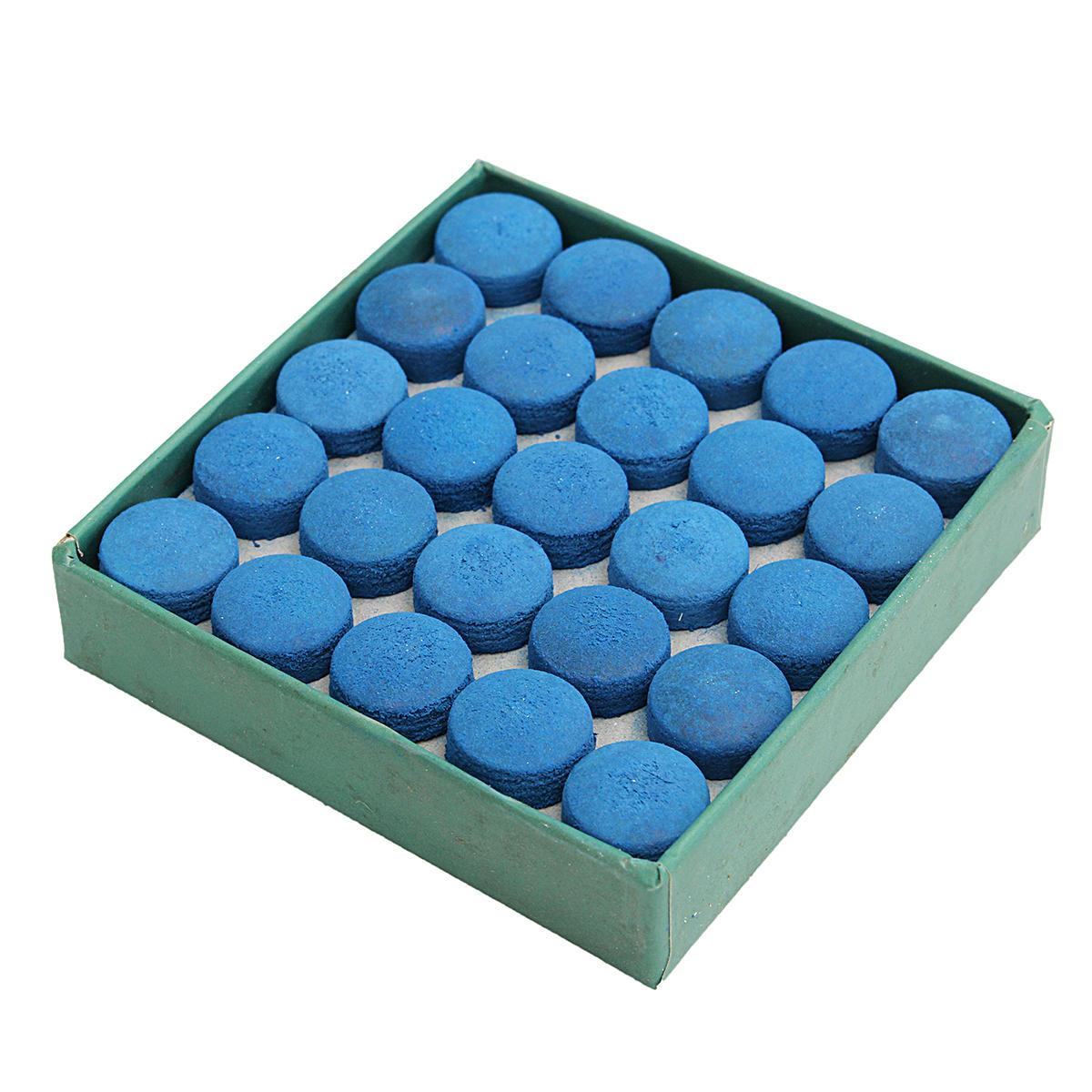 50Pcs Pegamento Piscina Billar cuero azul Cue Tips Caja Juego Sport 9mm 10mm 13mm - 7