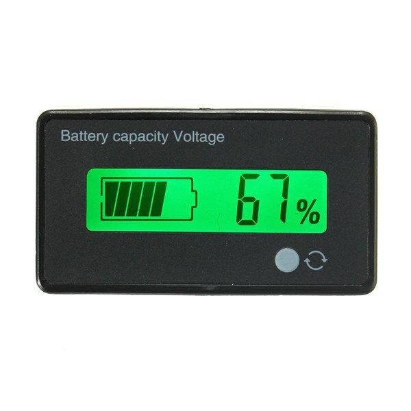 12 V / 24V / 36V / 48V 8-70V LCD Memimpin Asam Baterai Lithium Indikator Kapasitas Voltmeter Digital