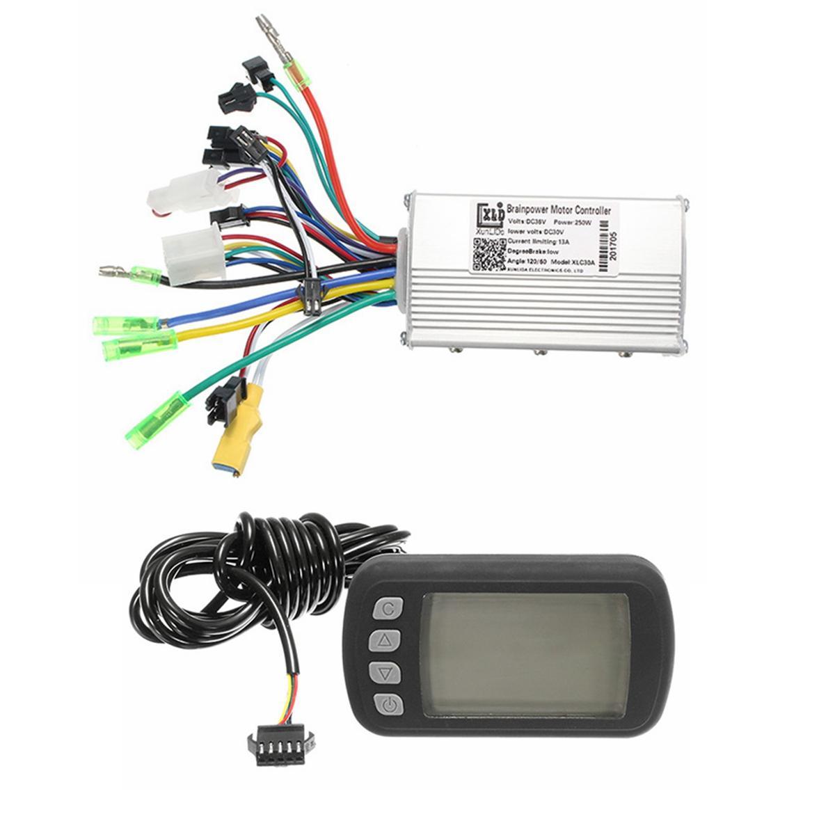 24V36V48V250W350W BLDC Motorhastighetsregulator LCD-skärm för MTB E-Bike Scooter Modell A