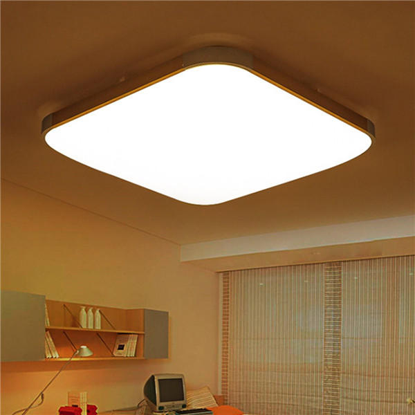48w 39 39cm Remote Control Modern Dimming Led Ceiling Light Surface Mount For Bedroom Kitchen