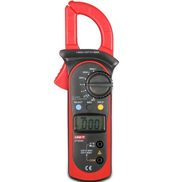 UNI-T UT202A AC//DC Voltage AC Current LCD Digital Multimeter Handheld Clamp Ohm