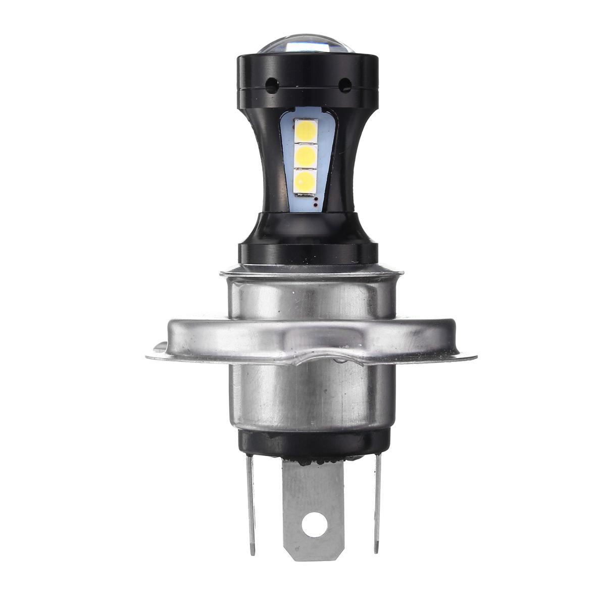 35W 12V Motorcycle Headlight H4 Amber Light Headlamp For Harley Bobber Chopper - 1