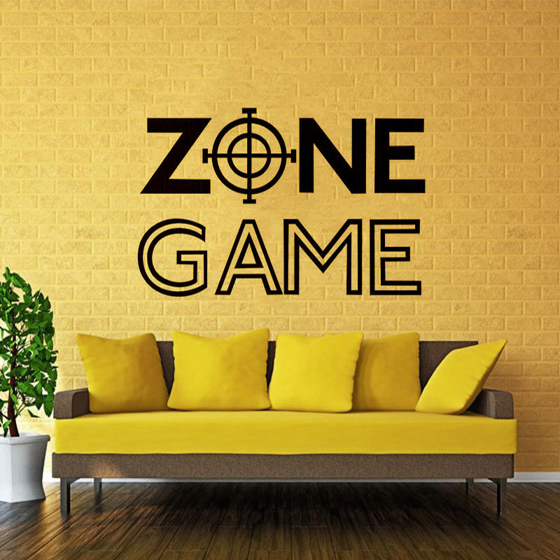 Wall Room Decor Art Vinyl Sticker Mural Decal Game Zone Home Decor Kids Room Wall Stickers Big Large Home Living Room Kitchen Decor Wall Stickers