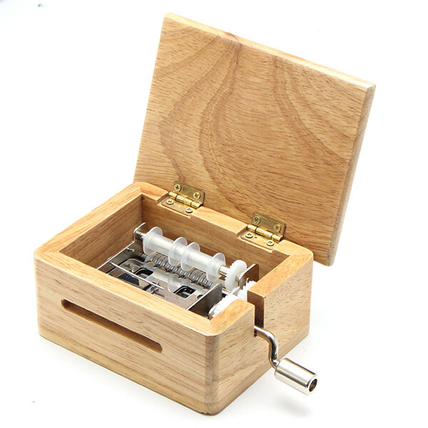 Retro Movie Film Projector Music Box Wood Metal Antique Musical Box Christmas Gift for Kids - 4