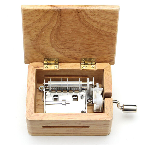 Retro Movie Film Projector Music Box Wood Metal Antique Musical Box Christmas Gift for Kids - 5